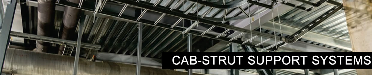 Cab-strut air conditioning arms
