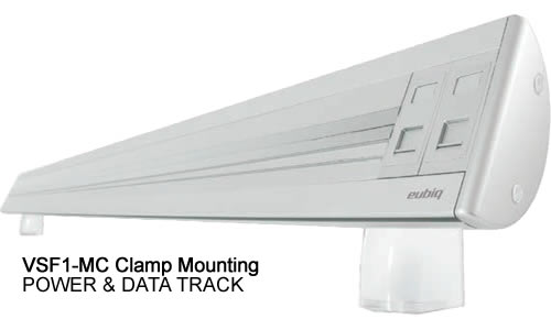 Eubiq VS1 POWER & DATA TRACKS WITH CLAMP OR CLAMP MOUNTING